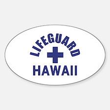 Lifeguard Hawaii Oval Decal