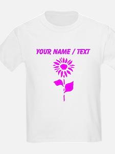 Custom Pink Sunflower T-Shirt