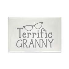 TERRIFIC GRANNY with cat eyes glasses Magnets