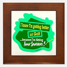 Better At Golf/Gerald Ford Framed Tile