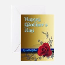 For a granddaughter, a mothers day card with a ros