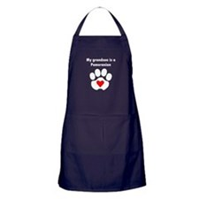 My Grandson Is A Pomeranian Apron (dark)