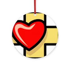Love the Cross Ornament (Round)
