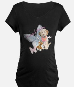 Tibetan Terrier Angel Baby Apparel Maternity T-Shi