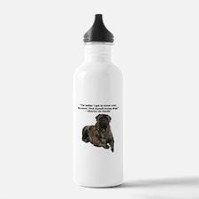 Bullmastiff Brindle-love dogs Water Bottle