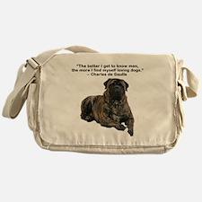 Bullmastiff Brindle-love dogs Messenger Bag