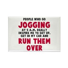 People who go jogging Rectangle Magnet