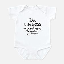 Julia is the Boss Infant Bodysuit