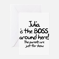 Julia is the Boss Greeting Cards (Pk of 10)