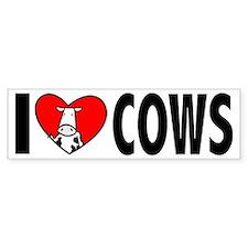 I Love Cows Bumper Sticker