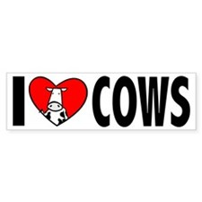 I Love Cows Bumper Bumper Sticker