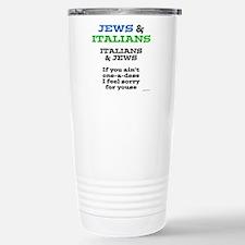 Jews and Italians Stainless Steel Travel Mug