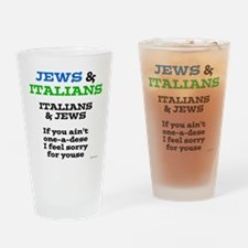 Jews and Italians Drinking Glass