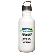 Jews and Italians Water Bottle