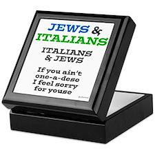 Jews and Italians Keepsake Box