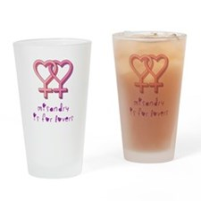 Misandry is for lovers Drinking Glass