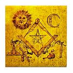 Freemason Lampskin Tile Coaster