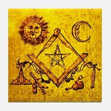 Freemason Lampskin Tile Coaster