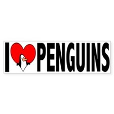 I Love Penguins Bumper Bumper Sticker