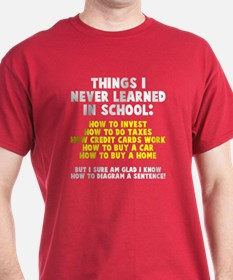 Things I never learned in school T-Shirt