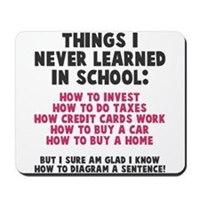 Things I never learned in school Mousepad
