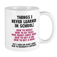 Things I never learned in school Small Mug