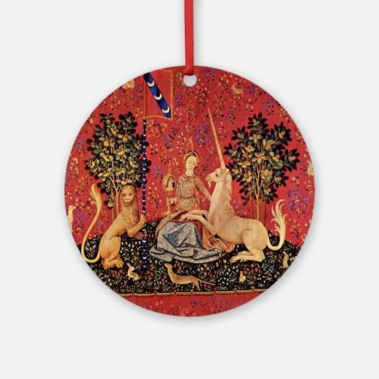 Lady and Unicorn Sight Ornament (Round)