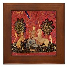 Lady and Unicorn Sight Framed Tile