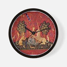 Lady and Unicorn Sight Wall Clock