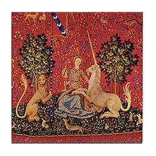 Lady and Unicorn Sight Tile Coaster