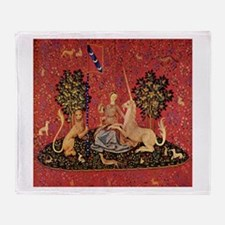 Lady and Unicorn Sight Throw Blanket