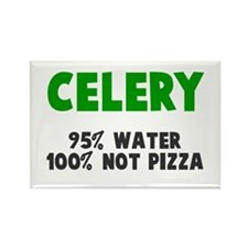 Celery 100% not pizza Rectangle Magnet
