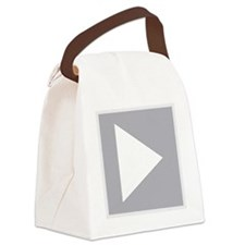 Play Button Canvas Lunch Bag