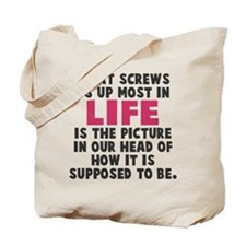 Life picture in head Tote Bag