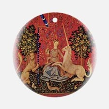 Lady and Unicorn Sight Ornament (Round)