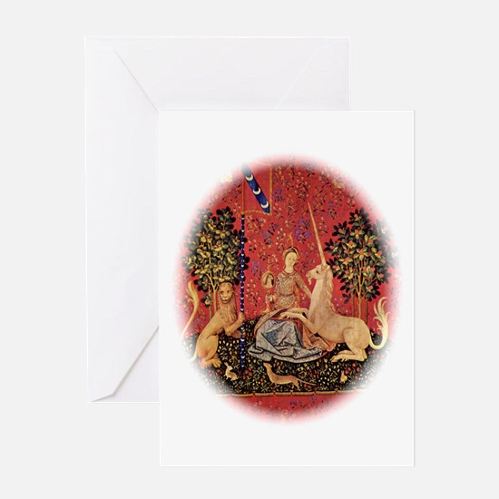 Lady and Unicorn Sight Greeting Cards