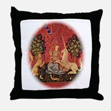 Lady and Unicorn Sight Throw Pillow