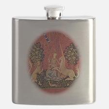 Lady and Unicorn Sight Flask