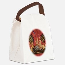 Lady and Unicorn Sight Canvas Lunch Bag