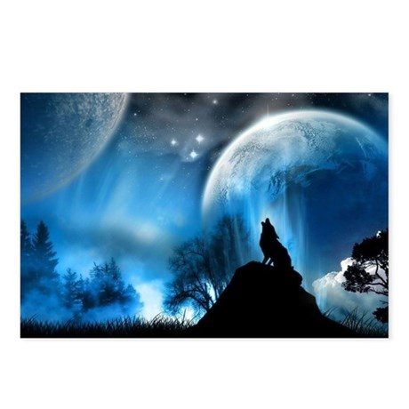 Wolf at the mooooon Postcards (Package of 8)