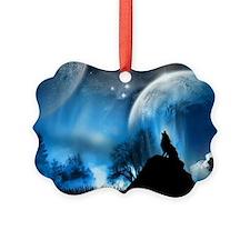 Wolf at the mooooon Ornament