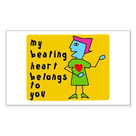 My Heart Belongs To You Sticker (Rect.)