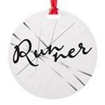 Abstract Runner Round Ornament