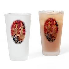 Lady and Unicorn Sight Drinking Glass