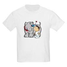 Bulldog Kiss Kids T-Shirt