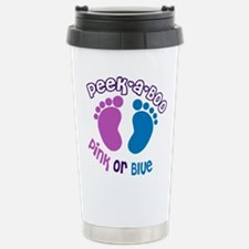 Peek A Boo Pink or Blue Stainless Steel Travel Mug