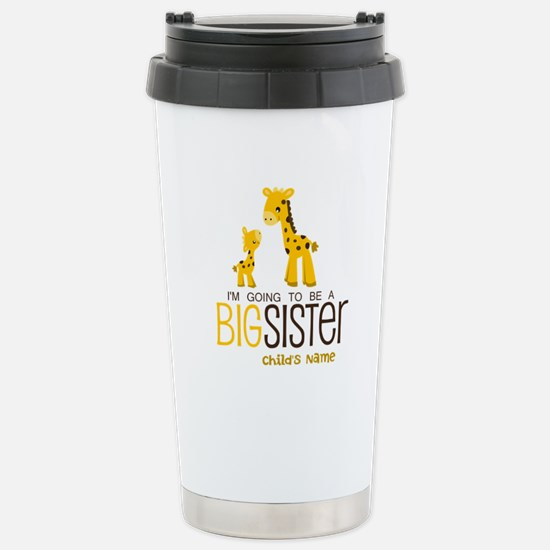 Personalized Big Sister Stainless Steel Travel Mug