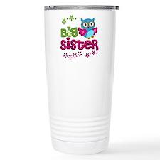 Cute Owl Big Sister Travel Mug
