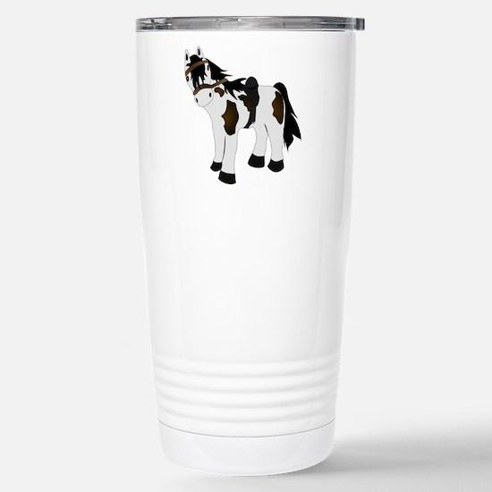 Cute Paint Pony Stainless Steel Travel Mug