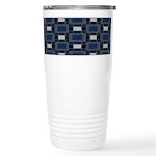 Shades of Blue Geometric Travel Mug